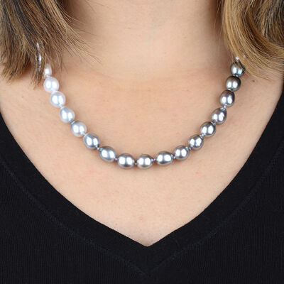 Ombre Cultured South Sea & Tahitian Pearl Strand
