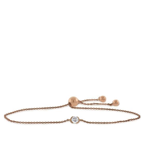 Rose Gold Ikuma Canadian Diamond Bolo Bracelet 14K, 1/4 ct.