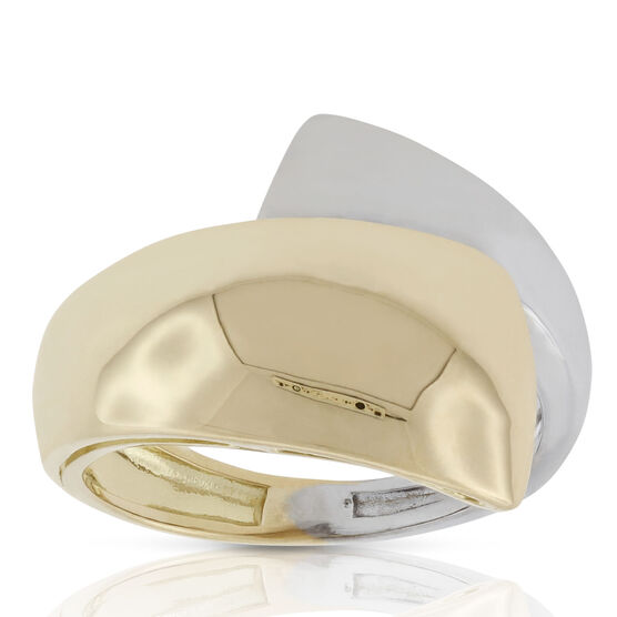 Toscano Two-Tone Bypass Ring 18K