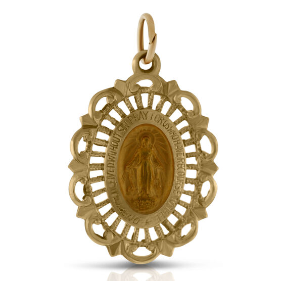 Filigree Miraculous Medal 14K