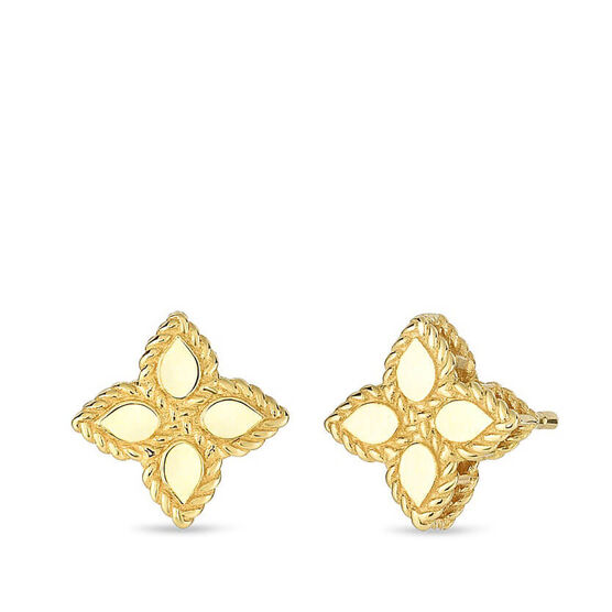 Roberto Coin Princess Small Flower Stud Earrings 18K