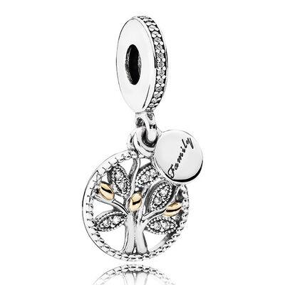 Pandora Family Heritage Charm, Silver & 14K