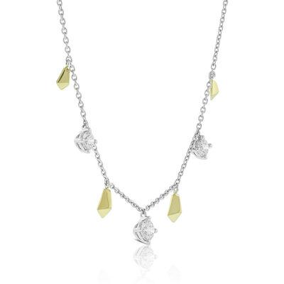 Jade Trau for Signature Forevermark Diamond Station Necklace 18K