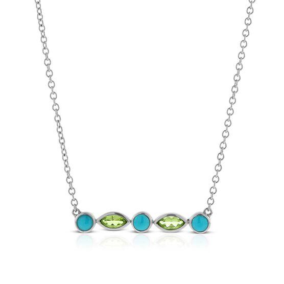 Lisa Bridge Turquoise & Peridot Necklace