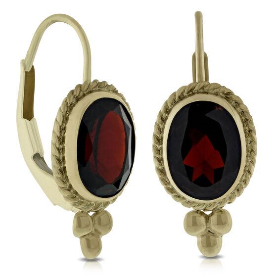 Garnet Earrings 14K