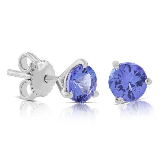 Tanzanite Stud Earrings 14K