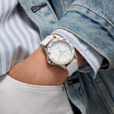 Hamilton Khaki Navy Scuba White Rubber Quartz Watch, 37mm