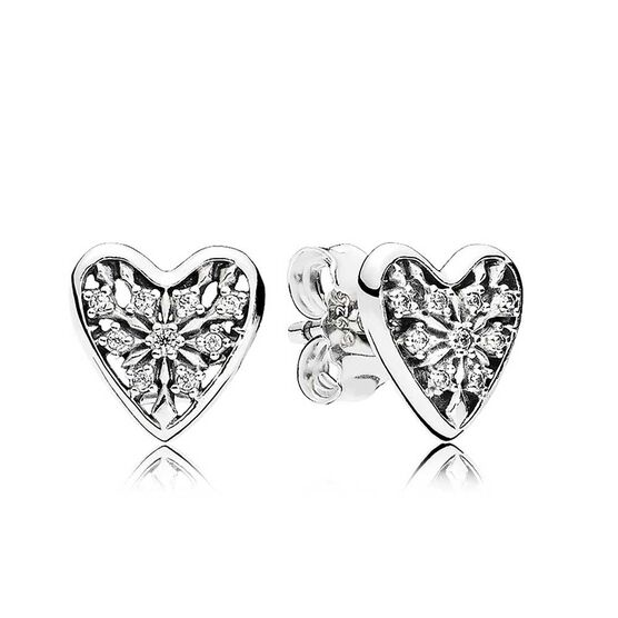 PANDORA Hearts of Winter CZ Earrings