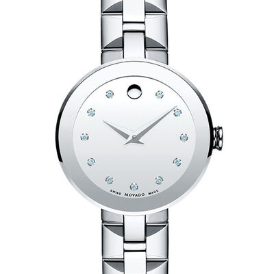 Movado Women's Sapphire Watch with Diamonds