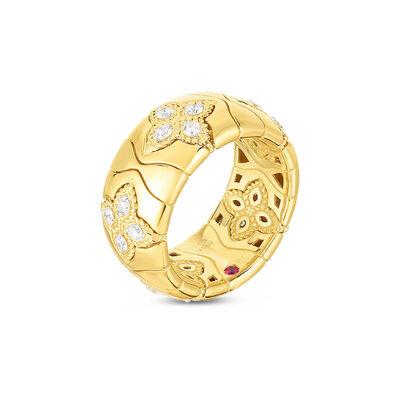 Roberto Coin Royal Princess Flower Diamond Ring 18K