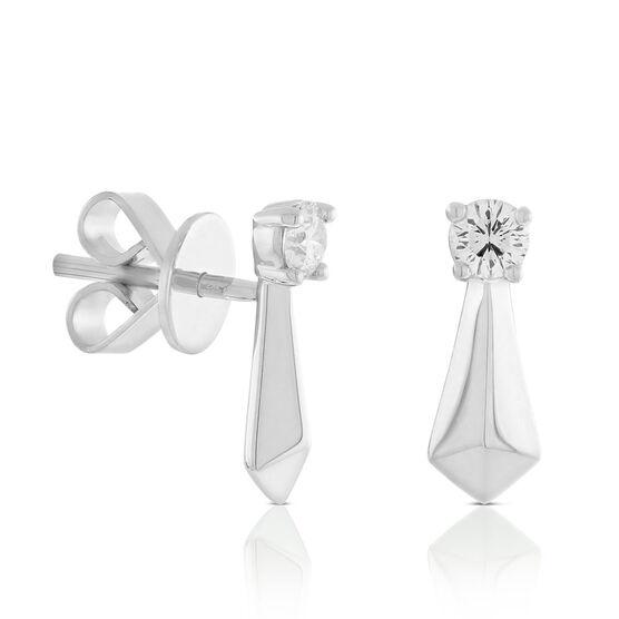 Jade Trau for Signature Forevermark Diamond Stud Earrings in Platinum