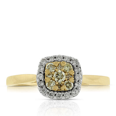 Yellow Diamond Ring 14K