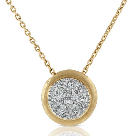 Toscano Satin Diamond Pavé Necklace 14K