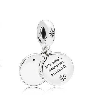 PANDORA Perfect Christmas CZ & Enamel Dangle Charm