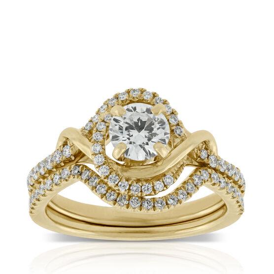 Diamond Swirl Bridal Set, 14K