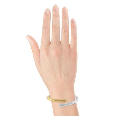 Toscano Two-Tone Overlapping Bangle Bracelet 18K
