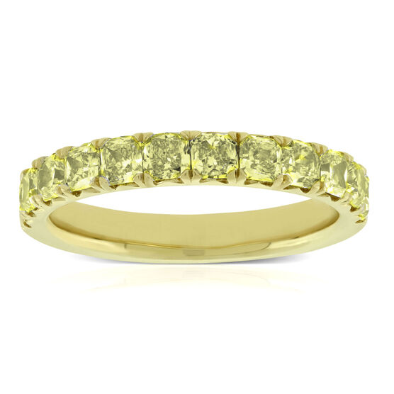Yellow Diamond Band 18K