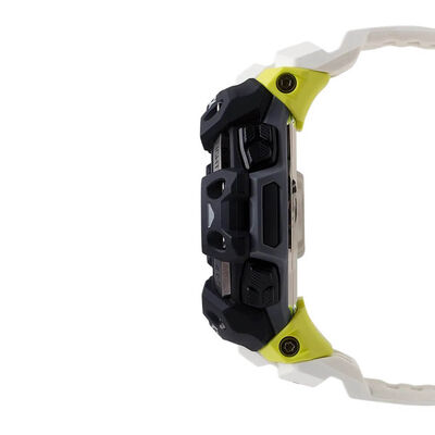 G-Shock Move White Strap Bluetooth Heart Rate Monitor Solar Watch, 63mm