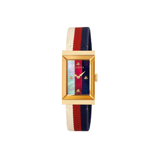 Gucci G-Frame Tri-Color Bee Nylon Watch