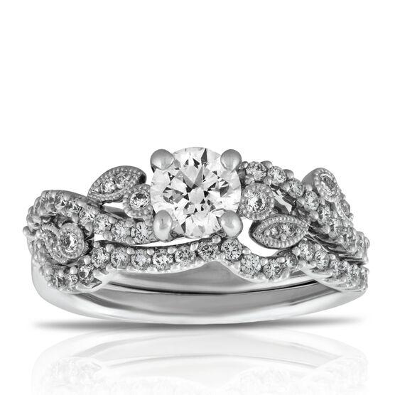 Diamond Bridal Set 14K, 1 & 1/15 ctw.