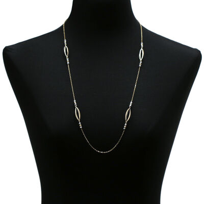 Toscano Marquise Station Necklace 14K