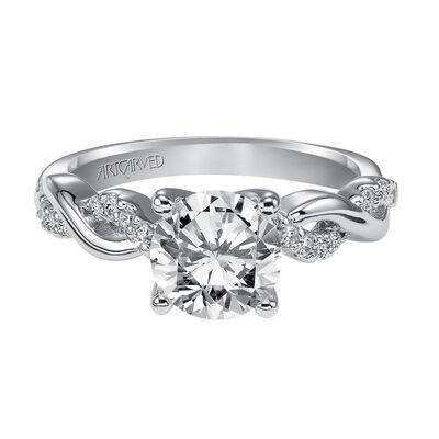 ArtCarved Gabriella Diamond Semi-Mount Ring 14K