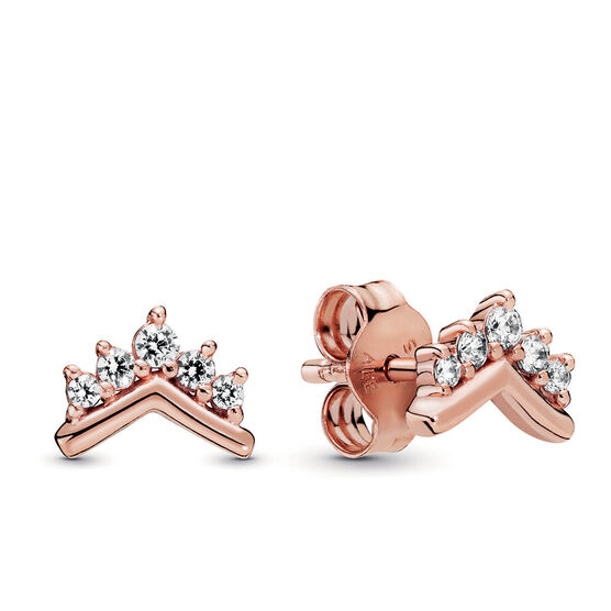 Pandora Rose™ Tiara Wishbone CZ Stud Earrings