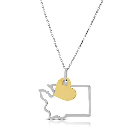 Love Washington Necklace, Sterling & 14K
