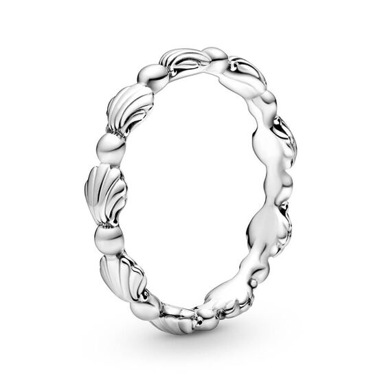 Pandora Beaded Seashell Band Ring