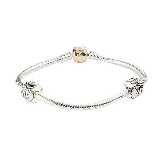 PANDORA Iconic Two-Tone Bracelet Set with Clips ($440 value)