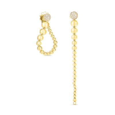 Roberto Coin Convertible Diamond Beaded Earrings 18K