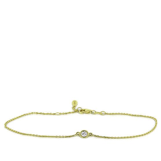 Bezel Set Diamond Bracelet 14K, 1/10 ct.