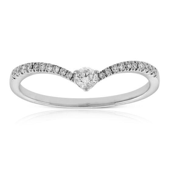 Diamond Chevron Ring 14K
