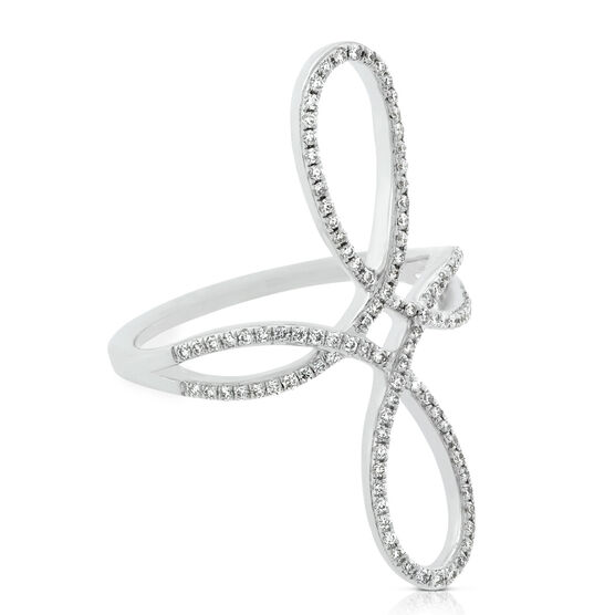 Double Loop Diamond Ring 14K