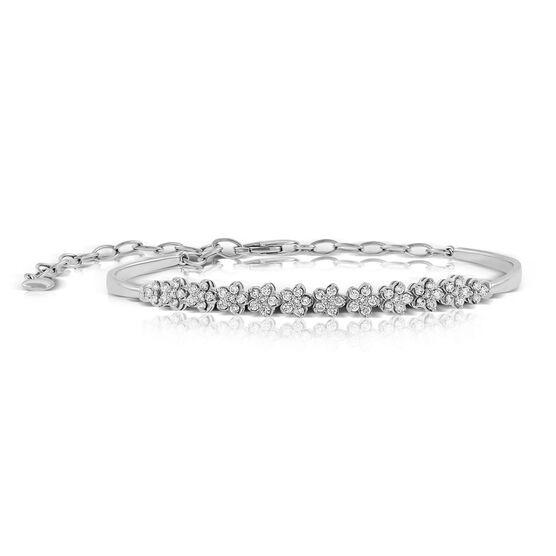 Diamond Flower Bracelet 14K