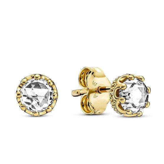Pandora Clear Sparkling CZ Crown Stud Earrings