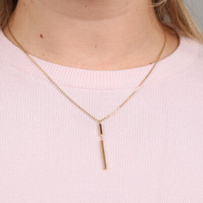 Double Bar Necklace 14K