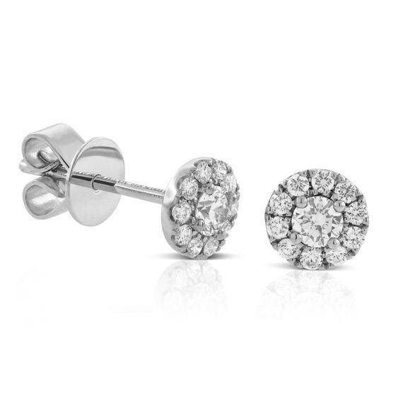 Forevermark Diamond Halo Earrings 18K