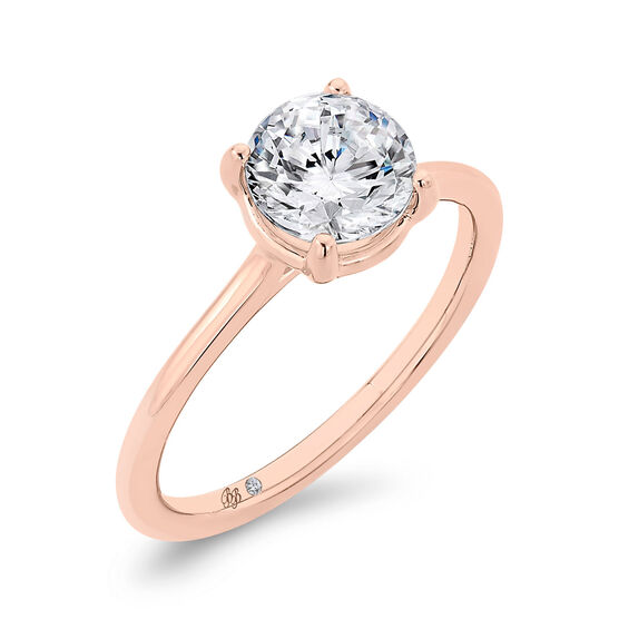 "Bella Ponte ""The Whisper"" Rose Gold Engagement Ring Setting 14K"