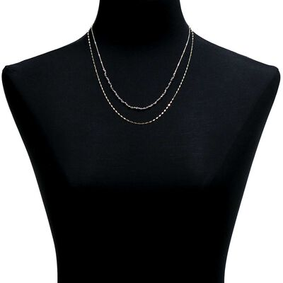 Lisa Bridge Hematite Necklace 14K