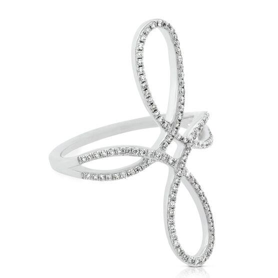 Double Loop Diamond Ring 14K