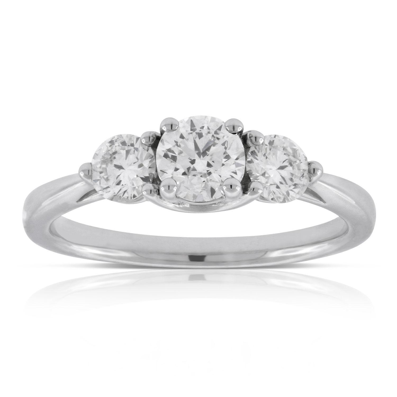 Three Stone Engagement Rings Ben Bridge Jeweler