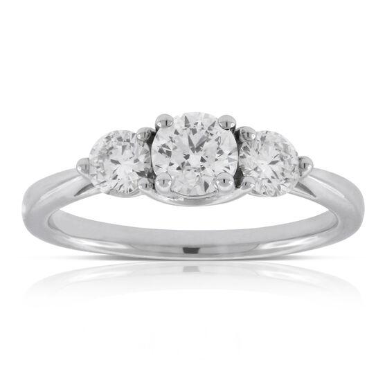 Ikuma Canadian Diamond Engagement 3-Stone Ring 14K
