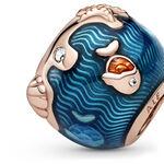 Pandora Shimmering Ocean Waves & Fish Enamel & CZ Charm