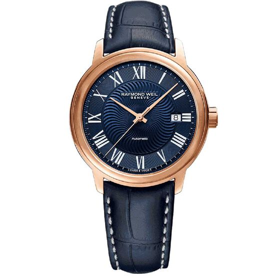Raymond Weil Maestro Rose PVD Automatic Watch, 40mm