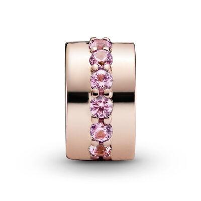 Pandora Rose™ Pink Sparkling CZ Row Clip Charm