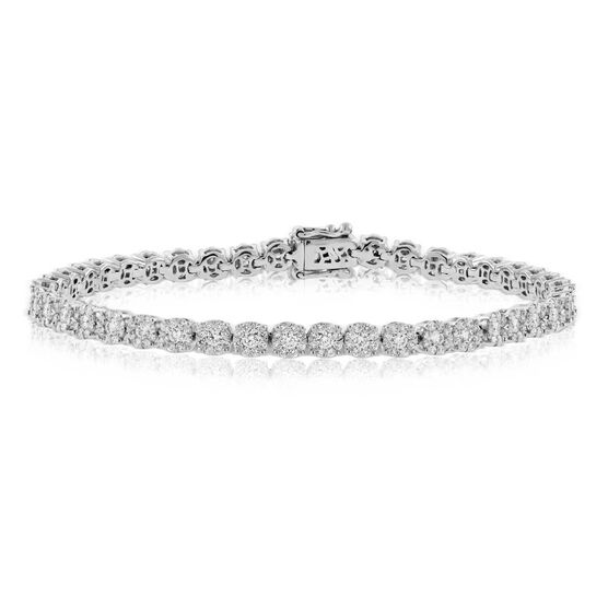 Diamond Halo Bracelet 14K, 3 ctw.