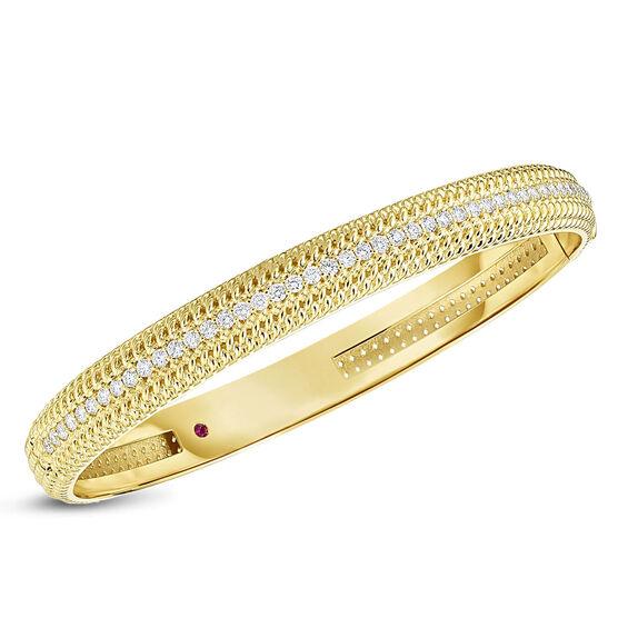 Roberto Coin Opera Diamond Med Width Bangle 18K