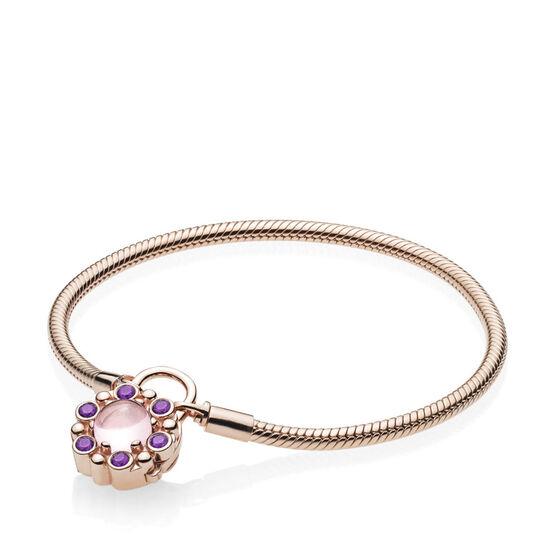 PANDORA Rose™ Padlock Heraldic Radiance Crystal Bracelet