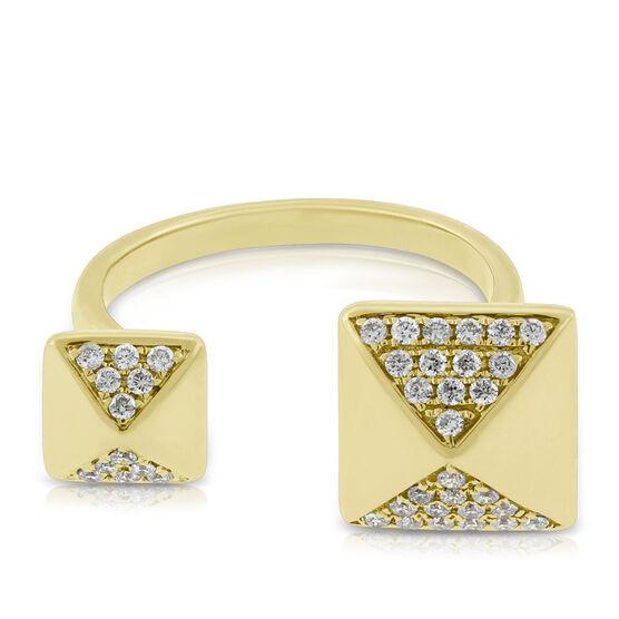 Double Pyramid Diamond Ring 14K
